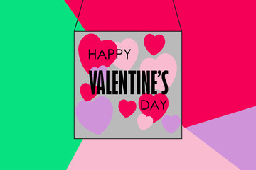 Happy Valentine's Day. Perfect for holiday flat design. Vector illustration.