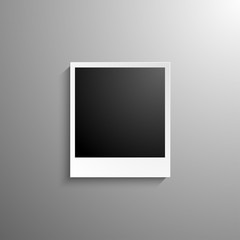 Retro-realistic vector photo frame