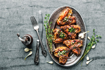 fresh roasted chicken wings