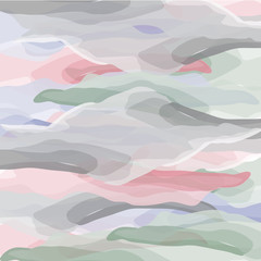 Watercolor vector background. Blurred texture, waves.