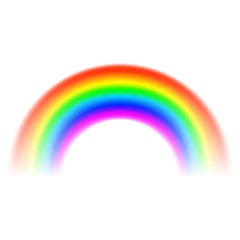 Transparent Rainbow arch on white background. Vector illustration.