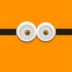 Vector illustration of a minion with sunglasses