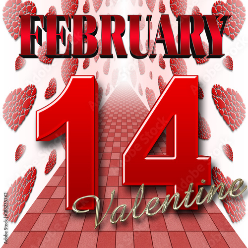 Stock Illustration - Valentine Day, 14 February, 3D Illustration ...