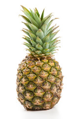 one big pineapple on a white background