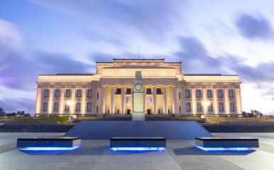 Auckland War Memorial Museum at night, New Zealand
