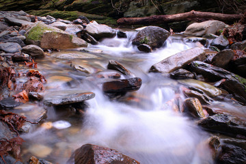 Slow Shutter Speed Riverscape or Waterscape