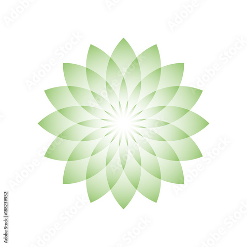 Green lotus flower symbol of yoga wellness beauty and spa green lotus flower symbol of yoga wellness beauty and spa vector illustration mightylinksfo