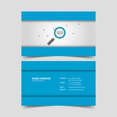 Seo Specialist Business Card Design Template.