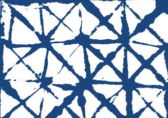 Kimono Geometric Texture, Elegant Japanese Tie-dye Pattern. Shibori Boho Watercolor Vector Summer Pattern. Indigo Textile Natural Organic Abstract Design. Minimal Kimono Geometric Texture Fabric.