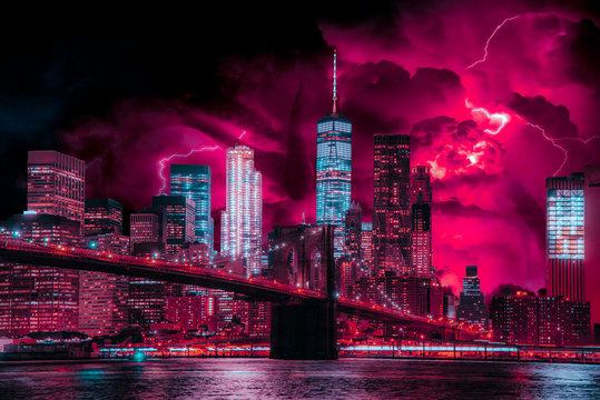Photo-Art of Stranger Things in New York City