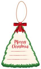 Christmas card shape of tree