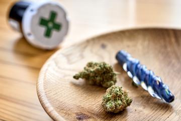 medical marijuana and a pipe