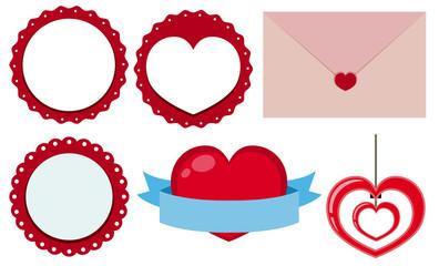 Label designs for valentine day