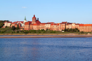 Granaries of Grudziadz at Wisla river in Poland