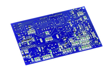 Circuit board on white