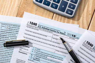 tax form 1040 in the USA for payment