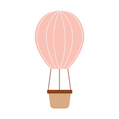 air ballon romantic decoration image vector illustration