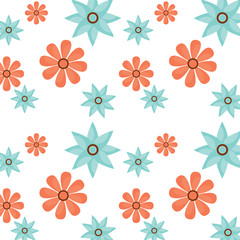 seamless pattern flower natural decoration vector illustration