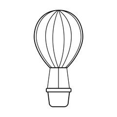 air ballon romantic decoration image vector illustration outline