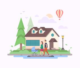 Sweet home - modern flat design style vector illustration