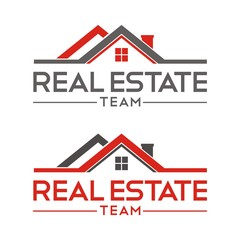 Real estate logo design template vector illustration