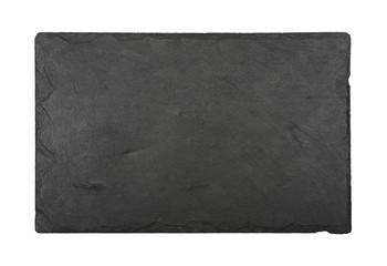 Black slate board isolated on white