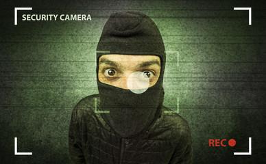 Burglar in action.