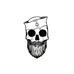 Sailor skull vector illustration