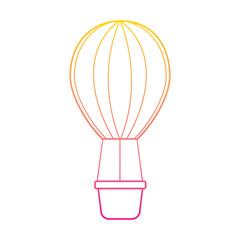 air ballon romantic decoration image vector illustration line color