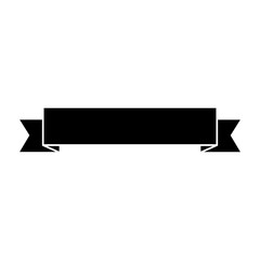 ribbon banner icon image vector illustration design  black and white