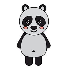 panda cute animal icon image vector illustration design