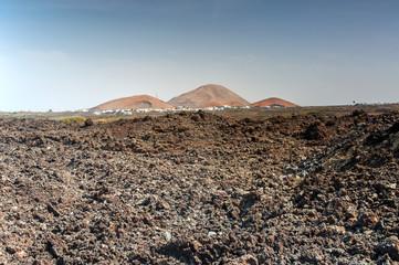 Erkalteter Lavastrom auf Lanzarote, Kanarische Inseln
