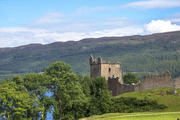 Urquhart Castle and Loch Ness. Drumnadrochit, Inverness, Scotland, United Kingdom. August 2016