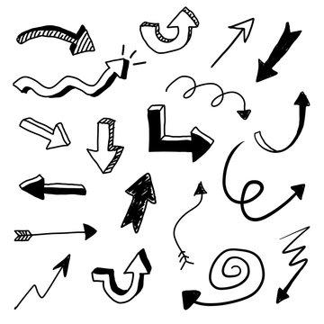 Vector Arrow Doodle Set