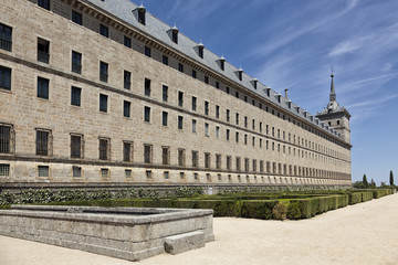 Side view of El Escorial