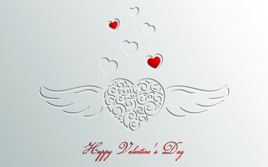 Valentine's Day greeting card. Web banner. Vector illustration.