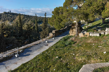 Panoramic view of Acropolis of Athens, Attica, Greece