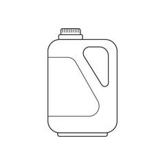Icon outline detergent container laundry liquid