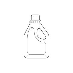 Icon outline detergent bottle laundry liquid
