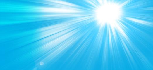 Sun on blue background