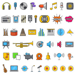 Multimedia Audio Sound Icons Illustration