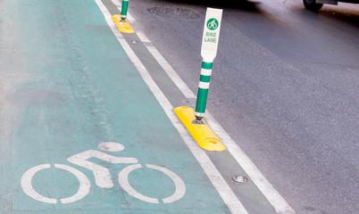 bike lane pole in bangkok thailand