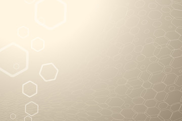 Abstract brown background with hexagon shapes and distorted mesh.