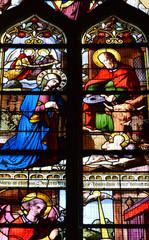 Auvers sur Oise , France - july 26 2017 : Notre Dame de l Assomption church