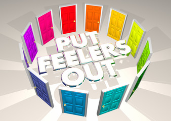 Put Feelers Out Doors Outreach Communication Campaign 3d Illustration