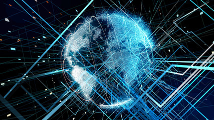 Global communication concept. Technological abstract background.