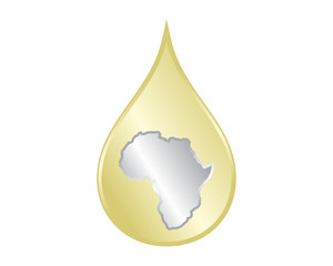 golden droplets africa image icon