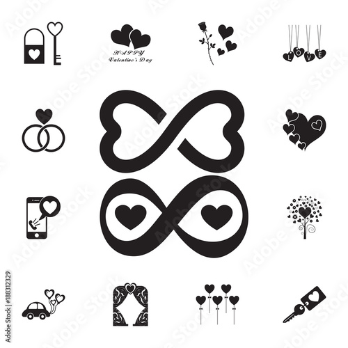 Endless Love Icon Set Of Valentines Day Elements Icon Photo