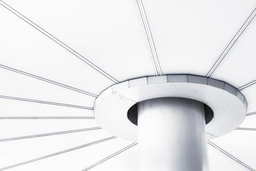 White mono pole for interior background