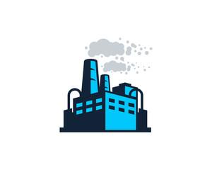 Factory Icon Logo Design Element